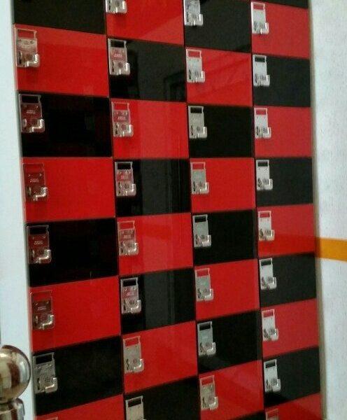 UV레드 + 블랙  신발장 (가로 200*세로300*깊이320)